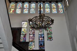Glas in loodramen trappenhuis